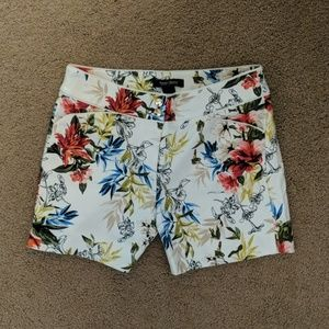 WHBM Colorful Floral Shorts